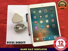 PERFECT Apple iPad mini 1st Gen. 16GB, Wi-Fi, 7.9in White iOS 9 Ref 117