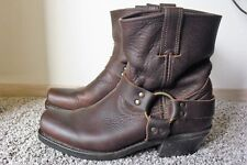 FRYE 77455 8R Harness Brown Oil Leather Motorcycle Biker Boots Women's Sz 9.5