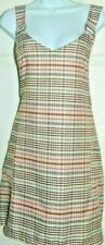 womens ladies  Primark dress Pinafore Size 16 bnwt multi coloured check