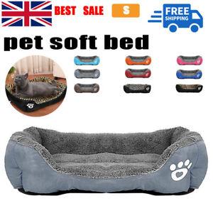 DOG BEDS WASHABLE PET CUSHION HOUSE SOFT WARM KENNEL BLANKET NEST Blanket UK