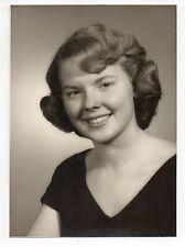 Vintage 5x7 Photo Cute As Button Young Woman, Portrait, 1950's Sep16