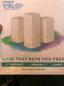 Linksys Velop Ac4600 Whole Home WiFi System Tri-band Series Vlp0203bf