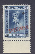 Nicaragua 1900 30c Telgrafos fiscal, SPECIMEN ovpt., from Am. Banknote archives