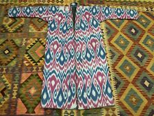 Uzbek Vintage Handmade Robe Dress chapan jacket coat Ikkat Chapan Cotton Best