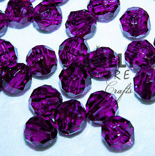 8mm Dark Amethyst Faceted Round Acrylic Beads 500pc made in USA
