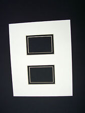 Picture Framing Mat 8x10 for two 2.5x3.5 Aceo or Sports Cards Ivory and Black
