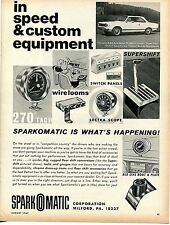 1967 Sparkomatic Tach Switch Panels Scope & Shifter Ad w/ Rambler American