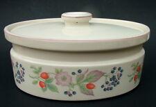 1980's Wedgwood Roseberry Oval 4.5pt Vegetable or Casserole Dish & Lid 28cm VGC