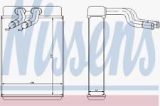 Wärmetauscher Innenraumheizung - Nissens 77610