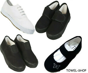 BOYS GIRLS UNISEX ADULT BACK TO SCHOOL PE SHOES ALL SIZES