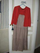 Ensemble Carole robe et gilet deux poches taille 44