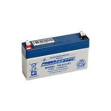 Power-Sonic 6v 1.3ah Rechargeable Battery Caravan Solar Alarm Leisure Ps-612