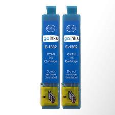 2 Cyan Ink Cartridges for Epson Workforce WF-3520DWF WF-7525 Pro WF-7015