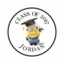 108 GRADUATION MINION Hershey KISS LABELS Personalized Party Favors