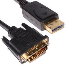NUOVO 2m spina DisplayPort a DVI-D 24+1 Spina Maschio Cavo Video Digitale Oro [006214]