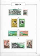 1968 MNH Indonesia selection according to  album page, postfris**