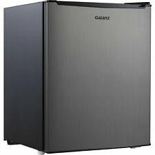 Galanz 2.7 Cu Ft Single Door Mini Fridge Freezer Compact Small Stainless Steel
