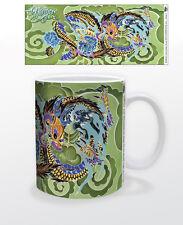 JAMES DANGER- GOLDEN DRAGON 11 OZ COFFEE MUG TEA CUP COLORFUL REPTILE ART DECOR!