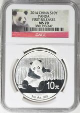 NGC MS 70 China 2014 First Releases Silver 1 oz Panda Coin Chinese Bullion