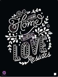 """Prima Marketing 8.5 x 11.25"""" stencil, Our Home #586881"""