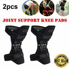 A Pair Breathable Non-slip Spring Knee Booster Sports Brace Support Knee Pads