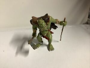 "Papo Fantasy Medieval Figure Orc Waghar Goblin Troll Chieftain Figure 2002 4"""