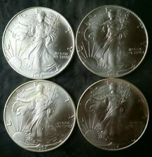 Lot of Four 1994 $1 American Silver Eagle Dollars