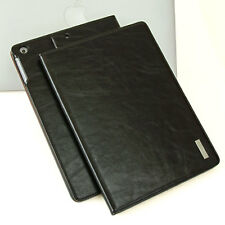 Luxury Leather Cover for Apple iPad Air 2 Case Pouch Tablet Case Black