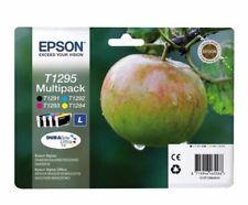 Véritable Pack Epson T1295 Cartouches encre Noir Bleu Rouge Jaune