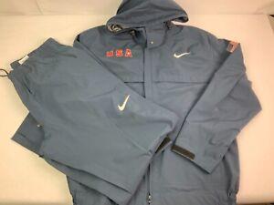 *RARE* Men's Nike Storm TEAM USA Jacket & Pant - Medium - blue