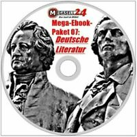 ☝ MEGA EBOOK PAKET 07 DEUTSCHE LITERATUR CD 748 eBooks 180000 Seiten DVD PDF NEU