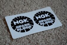 NGK Spark Plugs Rounded Race Racing Car Rally Bike Stickers F1 Black 50mm