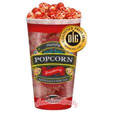 1000g Crunchy Strawberry Popcorn (8x 125g Becher) mit Erdbeerüberzug (14,99�'�/kg)