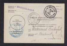 BELGIUM 1912 OFFICIAL POSTAL CARD BRUSSELS TO BOSCHVOORDE