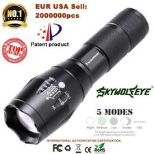 T6 Tactical Military LED Flashlight Torch 50000LM Zoomable 5-Mode for 14500/AA