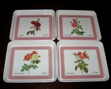 Set Of 4 Design Imports Ltd Mini Snack Trays made in Italy Providence R. I. Vtg