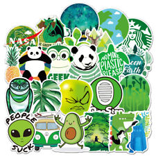 70Pcs Green Popular Skateboard Vinyl Sticker Laptop Luggage Kid Decal Lot Cool
