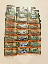 MATCHBOX LAND ROVER RANGE POLICE OFF ROAD SET 18 MILITARY DISCOVERY DEFENDER