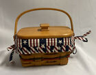 Longaberger 1997 All American Patriot Basket With Lid Stars And Stripes Liner