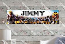 Personalized/Customized LSU Tigers Name Poster Wall Art Decoration Banner