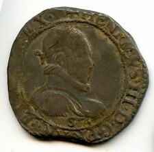 Henri III (1574-1589) 1/2 Franc 1578 S Troyes Rare