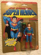 ~Toy Biz 1989 Super Heroes Superman Action Figure & Kryptonite Ring~