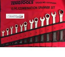 Teng Tools 12 Piece Ratcheting Combination Spanner Set 8 - 19mm 6512RSMM