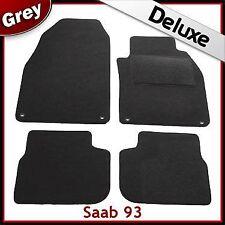 SAAB 9-3 93 Mk2 2002-2012 1300g di lusso su misura tappetini auto moquette grigio