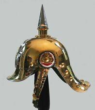 Pickelhaube Sachsen Tschako Rüstung 19. Jhdt. Larp Spiked Piket Helmet  WK1 R67