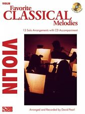 Favorite Classical Melodies Violin Instrumental Play-Along Book and Cd 002501738