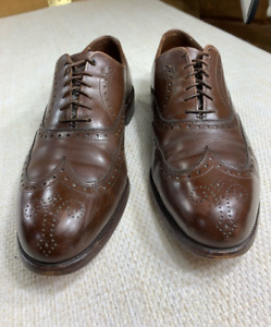 Allen Edmonds Mens Chester Brogue Oxford Dress Shoes Brown Wingtip Lace Up 9.5 D