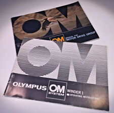 Instruction manuals for the Olympus OM Winder 1 & OM Motor Drive Group from 1977