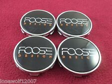 Foose Wheels Chrome/Black Custom Wheel Center Caps Set of 4 # 1002-52/CAP M-583