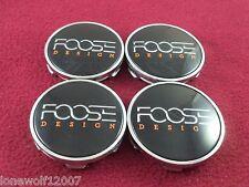 Foose Wheels Chrome/Black Custom Wheel Center Caps Set of 4 # 1002-52/CAP M-583